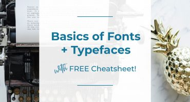 typewriter image, basics of fonts and typefaces, colleen keith design