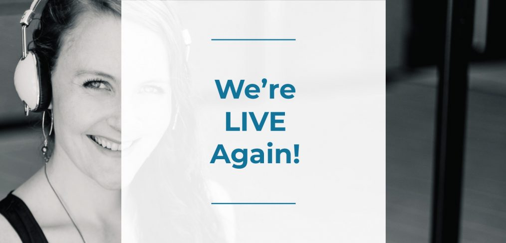 we are live again, colleen keith design